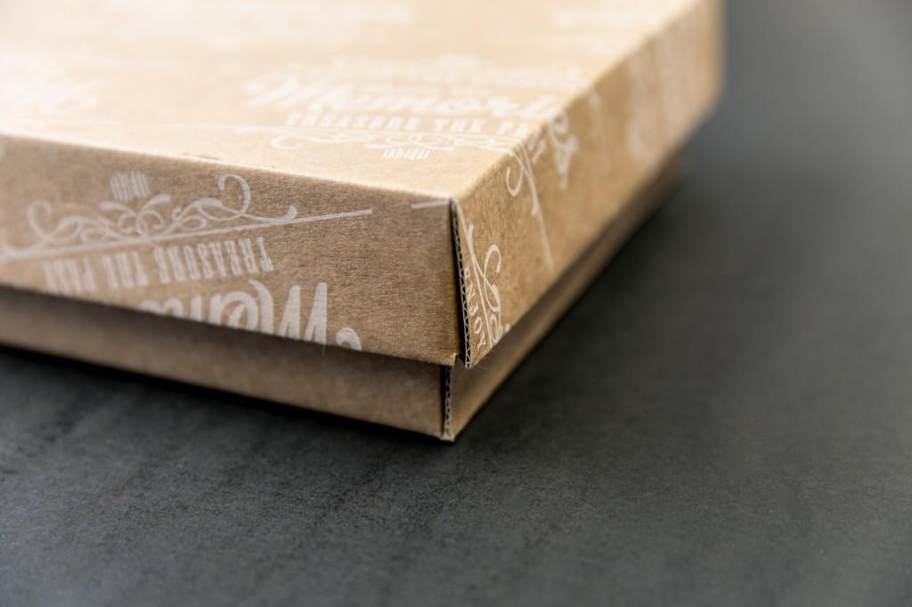 cardboard box with print