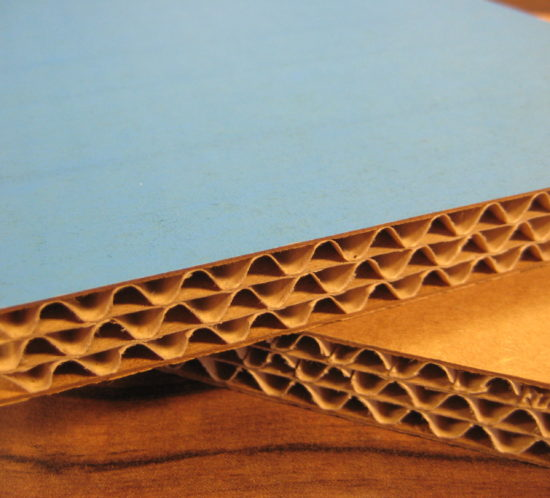 triple-walled corrugated cardboard